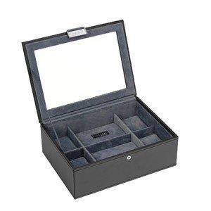 Pudełko na zegarki ze szklaną pokrywką Stackers