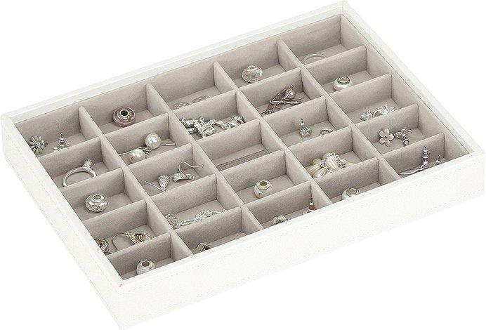 Szkatułka na biżuterię Stackers 25 komorowa classic biała