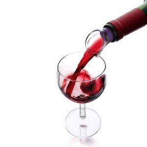 2 nalewaki do wina Vacu Vin różowy i fioletowy