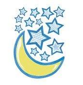 Dekoracja ścienna wielkoformatowa Big Murals Stars & Moon - małe zdjęcie