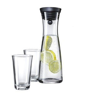 Karafka do wody Basic z 2 szklankami