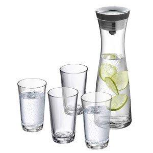 Karafka do wody Basic z 4 szklankami