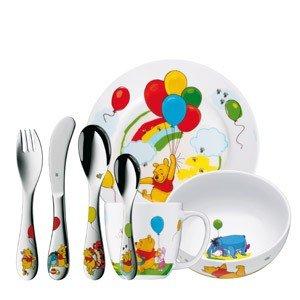 Sztućce i naczynia dziecięce Kubuś Puchatek 7 el.