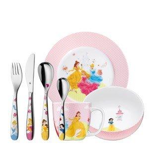 Sztućce i naczynia dziecięce Princess 7 szt.