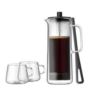 Zaparzacz do kawy tłokowy french press z 2 filiżankami Coffee Time