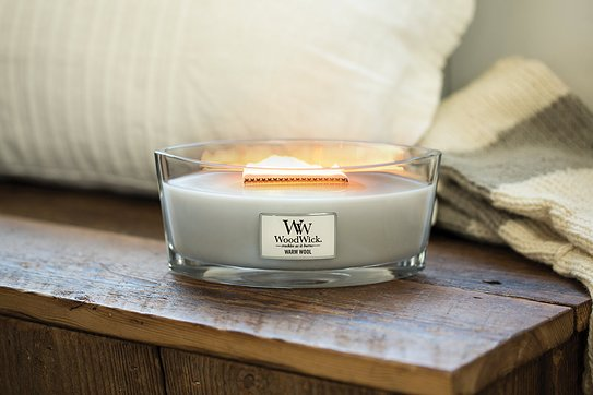 Świeca Hearthwick Flame WoodWick Soft Chambray