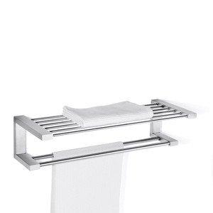 Wieszak na ręczniki i półka łazienkowa Fresco