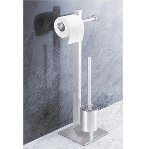 Uchwyt na papier toaletowy oraz szczotka do WC Fresco