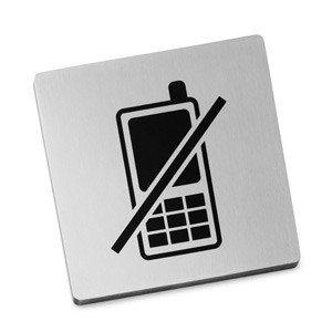 Szyld zakaz używania telefonów Indici