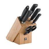 Blok z nożami, nożyczkami i ostrzałką 7 części Four Star