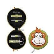 Akcesoria do manicure Classic Inox w zestawie dla dzieci 4 el. Małpka - małe zdjęcie