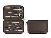 Akcesoria do manicure Twinox Emblem Brown komplet etui 10 el. - zdjęcie 1